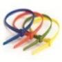Стяжки пластиковые неоткрывающиеся, нейлон ширина до 4,8 мм