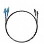 Шнуры оптические 50/125 Дуплексные Черные Переходные E2000-LC