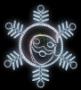 Снежинки и звезды 2D Neon-Night